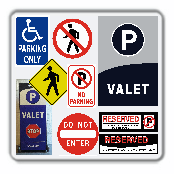 Sign, valet sign , traffic sign, reserved sign , magnet sign, parking signs,