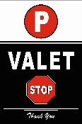 Reflective Valet Parking Sign gives you the maximum visibility at night. this reflective valet sign with Scratch Resistant Lamination can last a long time.