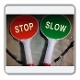 Handheld STOP/SLOW Sign