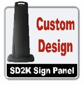 SD2K Sign Panel Ideal for any valet operation or parking garage. This product is a great solution for any area with limited space that requires additional traffic directing.