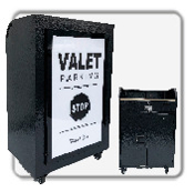 Elite Valet Podium w/ Slim LED Light & Power Station