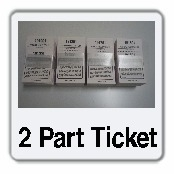 2 Part Park and Lock Ticket Stock Generic