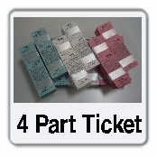 4 Part Valet Ticket Stock Generic