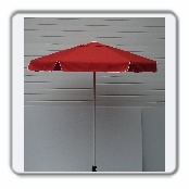 Aluminum frame umbrella Dimensions: 6 ft. diameter x 87 inch. tall - Our stylish 6 panel aluminum frame umbrella